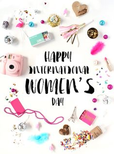 Happy International Women's Day to all the women in my life. Women's Day 8 March, 8th Of March, Glitter Birthday, Glitter Party, Happy Woman Day, Happy Women, International Womens Day March 8, Glitter Letters, Ladies Day