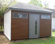 cabanon 206-3 Garage Loft, Modern Shed, Outdoor Living, Backyard, Outdoor Structures, Landscape, Sheds, Plywood, Bro