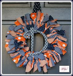 AUBURN (or any team) Ragamuffin Wreath / MADE-to-ORDER. $37.50, via Etsy.