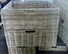 HAND MADE WOVEN WICKER BASKETS MADE OF ilala  WITH A STEEL FRAME INSIDE:Kitchen basketsfruit basketspicnic basketsgift basketsshopping basketsall storage