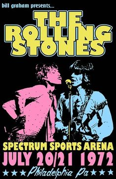 Rolling Stones 1972 Tour Poster by Tomasek on Etsy, $25.00