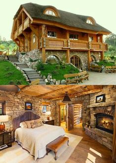 Small Log Cabin Homes Ideas Cabins In The Woods, House In The Woods, Log Cabin Homes, Log Cabins, Barn Homes, Mountain Cabins, Cabins And Cottages, Story House, My Dream Home