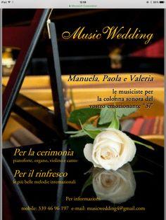 Musicwedding......la migliore musica per il tuo matrimonio.....dalla cerimonia al ricevimento......info: musicwedding4@gmail.com