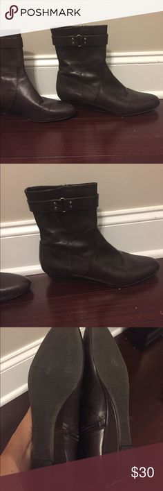 Brown booties Classic style! Enzo Angiolini Shoes Ankle Boots & Booties