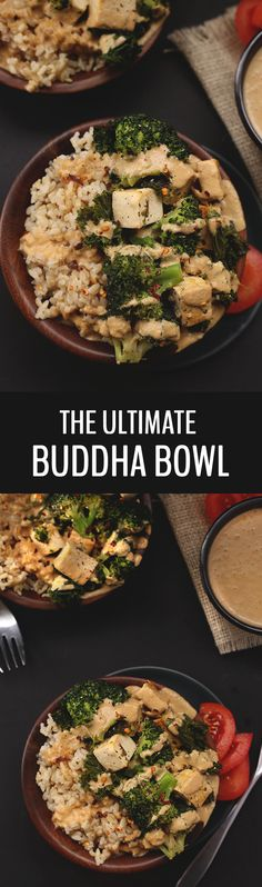 There's millions of recipes for Buddha Bowls out there but I can assure you this one is the ultimate! With veggies, brown rice, tofu in a flavour-packed peanut sauce, the ultimate buddha bowl will become your go-to vegetarian dinner recipe!