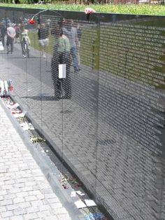 Vietnam Veterans Memorial Wall -My little brother's name is on this wall along with, oh so many brave men and women.