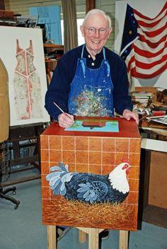 Warren Kimble- great folk artist graduated from Syracuse University.