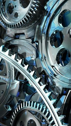 Chrome Gears Wallpaper