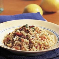 #Risotto with Crab and Shrimp (Risotto al Granchio e Gamberi) Jack and I were married in Venice and had our wedding luncheon at the Cipriani where we shared an amazing seafood risotto.