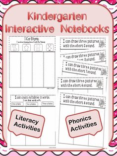 123kteacher blog : INTERACTIVE NOTEBOOKS IN KINDERGARTEN ~Check out some great ways to use these notebooks effectively in your classroom. Find some developmentally appropriate literacy, math and science interactive notebook activities here.
