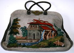 A Beautiful 19th Century Berlin WoolWork & BeadWork Bag/Purse