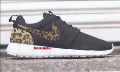 0cc626b3a1c2 Custom Brown Cheetah Print Black Nike Roshe Runs - Eshays