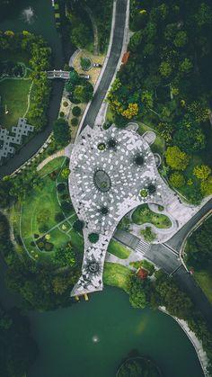 Aerial view of Lake Garden, Kuala Lumpur photo by Izuddin Helmi Adnan on Inspirationde Atlanta Botanical Garden, Botanical Gardens, Landscape Designs, Landscape Architecture, Lake Garden, Birds Eye View, Aerial Photography, Photography Ideas, Aerial View