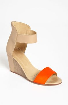 MM6 Maison Martin Margiela Two Tone Wedge Sandal available at #Nordstrom