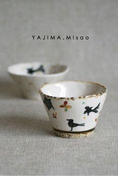 yajima, misao click now for more info. Ceramic Tableware, Ceramic Clay, Ceramic Painting, Porcelain Ceramics, Ceramic Bowls, Ceramic Pottery, Pottery Art, Kitchenware, Japanese Ceramics