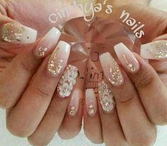 Bride Nails, Prom Nails, Wedding Nails, Fancy Nails, Cute Nails, Pretty Nails, Fabulous Nails, Gorgeous Nails, Glitter Nails