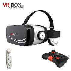 VR Headset with Earphones Bluetooth, Vr Box, Virtual Reality Glasses, Samsung, Smartphone, Headphones, Free Shipping, 3d Glasses