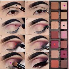 Gorgeous Makeup: Tips and Tricks With Eye Makeup and Eyeshadow – Makeup Design Ideas Makeup Eye Looks, Eye Makeup Steps, Smokey Eye Makeup, Eyeshadow Makeup, Natural Eyeshadow, Gold Eyeshadow, Makeup 101, Makeup Goals, Diy Makeup