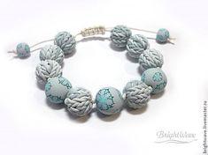 Knitting from polymer clay - a secret round beads :) - Fair Masters - handmade, handmade