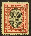 INDIAN FEUDATORY STATES - INDORE 1940-46 2R black and carmine, SG 42, used…