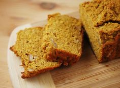 Pumpkin bread- this was really good! Had to add a lot more honey and vanilla for what it called for! Would make again though ;-)