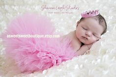 Pretty Pink Princess Tutu Set From The Sweet Baby Royalty Newborn Tutu And Tiara Collection Stunning Unique Newborn Photo Prop