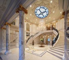 Beaux Art Beverly Hills House Design, Foyer Design, Entrance Design, Grand Homes,