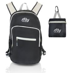 Ody Travel Gear Lightweight Backpack, 20L Capacity, Ripstop Nylon, Additional Comfort Cross Adjustable Straps, Foldable with Pouch, Best for Traveling, Hiking and Carry On - 100% NO QUESTIONS ASKED > You will love this! More info here : Day backpacks