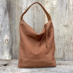 b6cad2d45661 Leather Hobo Bag in a Soft Natural Leather - Brown Leather Handbag - Slouchy  - Leather Purse - Neutral - Short Strap - - Stacy Leigh Bags
