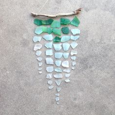 Sea Glass & Driftwood Mobile - Ombre. $54.00, via Etsy.