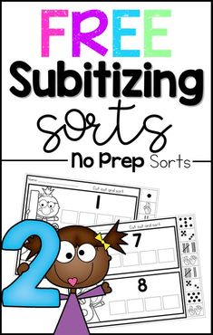 These free number sense worksheets are the perfect preschool and kindergarten math activity to help students learn numbers Subitizing is such a great way to build number sense! Subitizing Activities, Kindergarten Math Activities, Preschool Education, Preschool Math, Math Classroom, Teaching Math, Math Math, Math Fractions, Math Resources