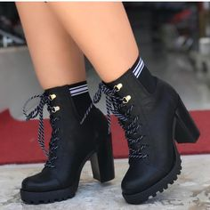 Frauen Schnalle High Heels Stiefeletten Frauen Schnalle High Heels Stiefeletten Stiefeletten Daisy Dress For Less Source by Me Too Shoes, Women's Shoes, High Shoes, Shoes Boots Timberland, Converse Boots, Girl Timberlands, Black Converse, Timberland Fashion, Converse High