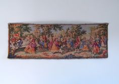Vintage Victorian Music and Dance Scene Wall Tapestry