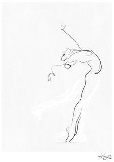 'Flight', Dancer Line Drawing Art Print by Kerry Kisbey Dancer Drawing, Gesture Drawing, Life Drawing, Drawing Sketches, Art Drawings, Drawing Art, Figure Drawing, Dancing Drawings, Single Line Drawing