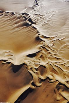 view of Namib desert as seen from the air