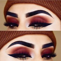 35 Red Eye Makeup Looks Beautiful for Women /. - 35 Red Eye Makeup Looks Beautiful for Women /. Eye Makeup Glitter, Red Eye Makeup, Cute Makeup, Gorgeous Makeup, Pretty Makeup, Skin Makeup, Eyeshadow Makeup, Beauty Makeup, Gold Eyeshadow