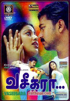 Vaseegara Tamil Movie Online - Vijay, Sneha, Gayathri Jayaram, Manivannan, Nasser, Simran and Vadivelu. Directed by K. Selvabharathi. Music by S. A. Rajkumar. 2003 [U]
