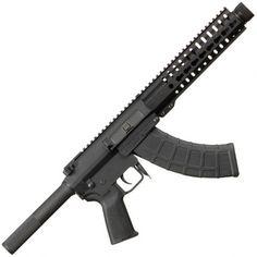 "CMMG MK47 Mutant AKS8 Semi Auto Pistol 7.62x39mm 8"" Barrel with Krink Muzzle Device 30 Rounds 9"" RKM Key-Mod Handguard Full Length Picatinny Top Rail Black Nitride Finish"