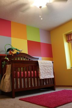 I REALLY like this one - esp for gender neutral. They even show how to paint the squares on the wall.