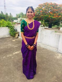 Green and violet pattu saree with hand embroidered blouse Pattu Sarees Wedding, Bridal Sarees, Lengha Blouse Designs, Saree Color Combinations, Saree Jewellery, Simple Blouse Designs, Indian Fashion Dresses, Indian Blouse, Blue Saree