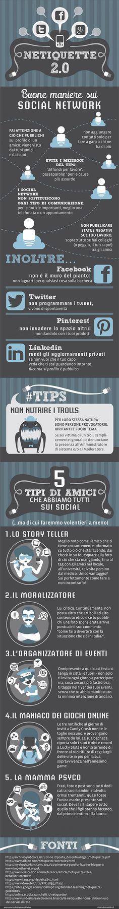 Netiquette 2.0: buone maniere sui social network - infographics designed for esseredonnaonline.it- illustrated by Alice Kle Borghi, kleland.com