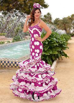 ESPERANZA - Guadalupe Moda Flamenca Elegant Dresses For Women, Cute Dresses, Beautiful Dresses, Formal Dresses, Beautiful Women, Costume Ethnique, Traditional Mexican Dress, Spanish Dress, Flamenco Dancers