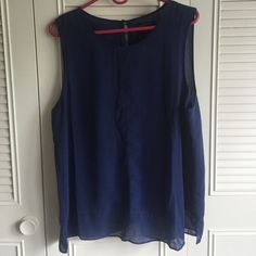 NWT! Banana Republic Blue Sleeveless Blouse NWT! Banana Republic Blue Sleeveless Blouse. Bought this summer but it's too big for me. It's a classic style and pretty year round! Banana Republic Tops Blouses