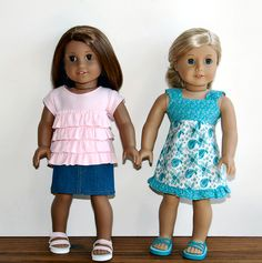 Sewing for American Girl Dolls (great resources on the side bar too!)