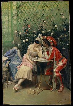 Masqueraders, Artist: Raimundo de Madrazo y Garreta (Spanish, Rome 1841–1920 Versailles) Date: 1875–78