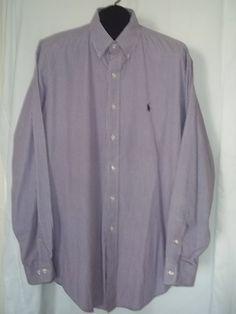 Polo Ralph Lauren Yarmouth Gingham Print Casual Shirt Size: 16.5 34/35 #RalphLaurenPurpleLabel #ButtonFront