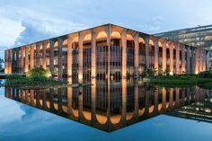 Itamaraty Palace in Brasilia - a building designed by Oscar Niemeyer. Jon Reid