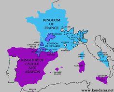 1500eanengh.gif (550×447) Kingdom Of Naples, Spain History, Aragon, Sardinia, France, Island, Maps, Marseille, Islands