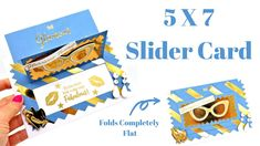 5 x 7 Slider Card Made To Surprise! - YouTube Fancy Fold Cards, Folded Cards, Super Sliders, Slider Cards, Step Cards, Pocket Cards, Pop Up Cards, Card Tutorials, Unusual Gifts