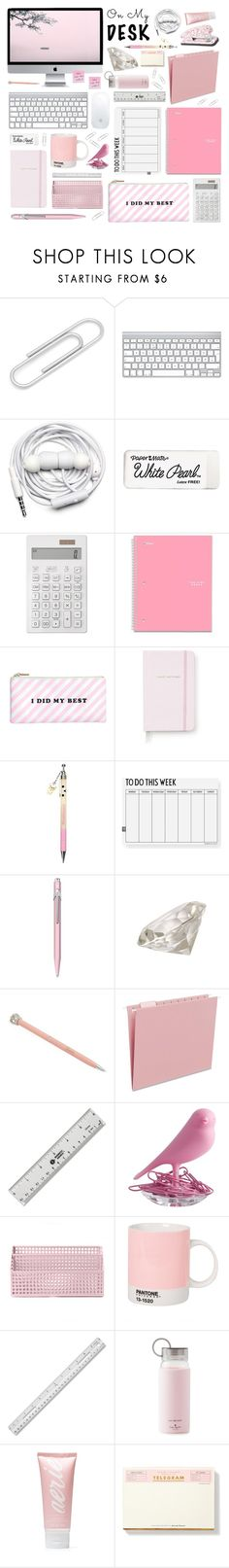 """On My Desk"" by cara-mia-mon-cher ❤ liked on Polyvore featuring interior, interiors, interior design, home, home decor, interior decorating, Ox & Bull Trading Co., Urbanears, Paper Mate and Seed Design"